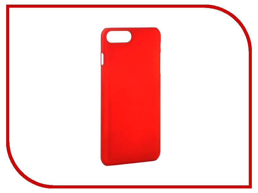 Аксессуар Чехол SkinBox 4People для iPhone 7 Plus Red T-S-AI7P-002 чехлы для телефонов skinbox чехол skinbox lux apple iphone 7 plus