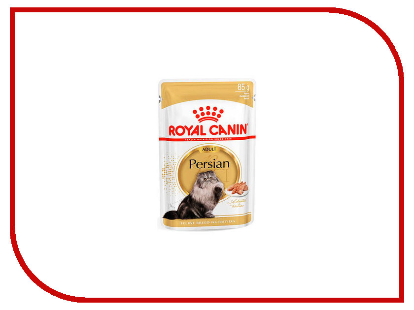 Корм ROYAL CANIN Adult Persian Паштет 85g для кошек 538001 корм сухой royal canin siamese adult для сиамских кошек старше 12 месяцев 2 кг