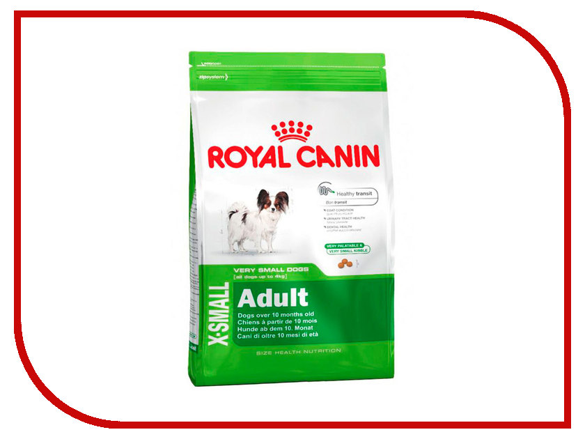 Корм ROYAL CANIN Adult X-Small 500g для миниатюрных собак меньше 4 кг с 10 месяцев до 8 лет 315105