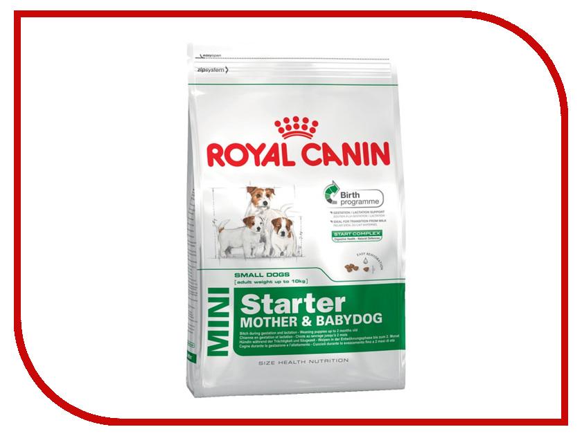 Корм ROYAL CANIN Mini Starter 1kg для щенков мелких пород до 2-х месяцев беременных и кормящих 186010/186110 корм для щенков royal canin роял канин junior до 10 месяцев конс 195г