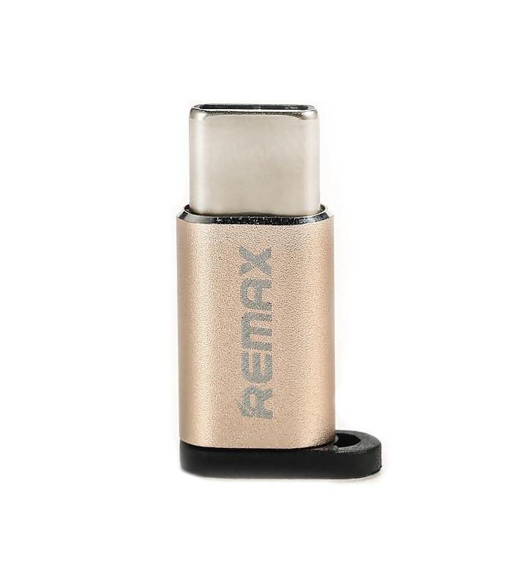 Фото - Аксессуар Remax RA-USB1 - microUSB/Type-C Gold 64836 кабель remax 2000000135878 синий