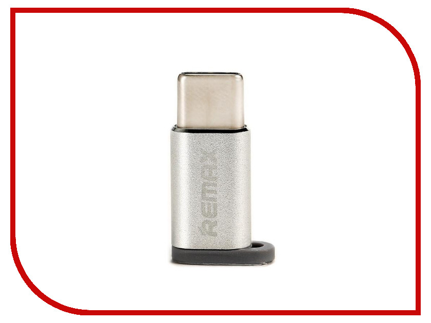 Аксессуар Remax RA-USB1 - microUSB/Type-C Silver 64837 аксессуар remax usb microusb full speed 2m red 14360