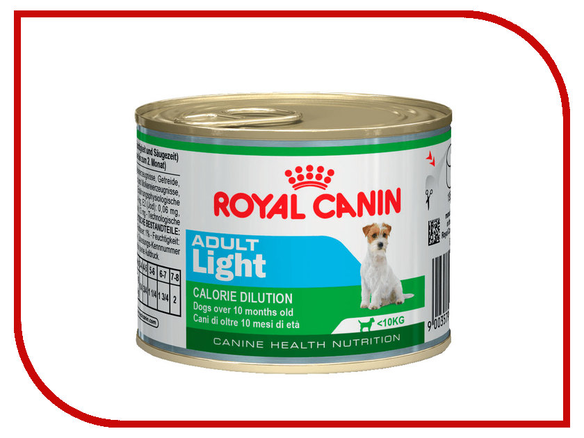 цена на Корм ROYAL CANIN Adult Light 195g для собак 779002
