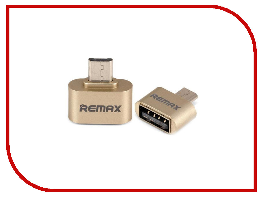 Аксессуар Remax RA-OTG USB 2.0 - microUSB Gold 64832 аксессуар remax usb microusb full speed 2m red 14360