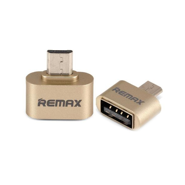 Фото - Аксессуар Remax RA-OTG USB 2.0 - microUSB Gold 64832 кабель remax 2000000135878 синий