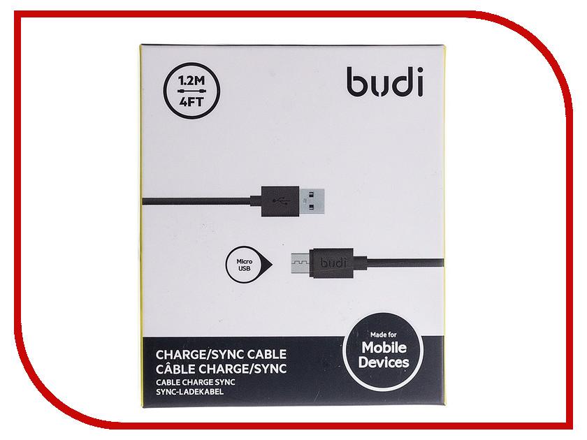 Фото Аксессуар Budi USB - MicroUSB M8J01204 для HTC/Samsung 120cm Black 70636
