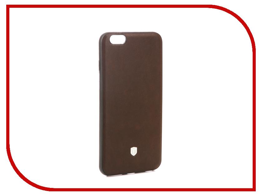 Аксессуар Чехол Activ T Leather для APPLE iPhone 6 Plus Brown 71557 аксессуар чехол накладка micromax canvas viva a106 activ silicone black mat 46857