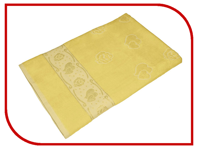 Полотенце Aisha Home 70x140 Yellow УП-016-03
