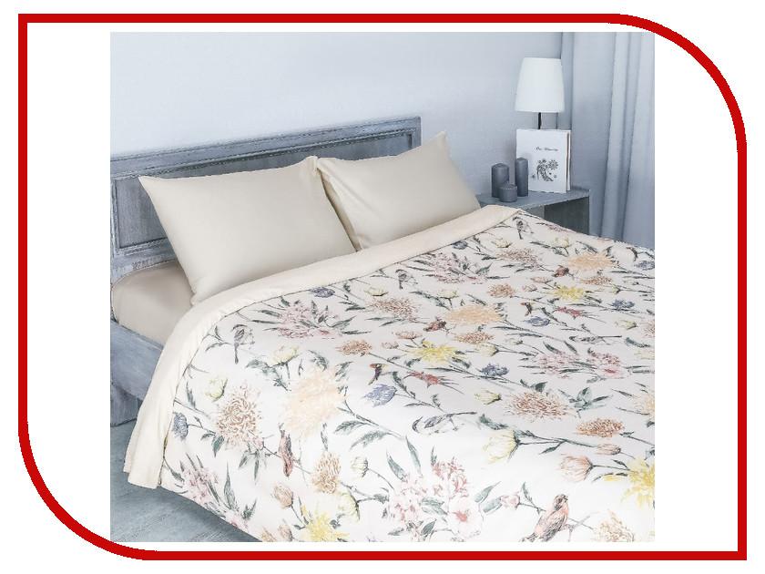 Постельное белье Этель Летнее утро Комплект 2 спальный Мако-Сатин 2346515 постельное белье этель калейдоскоп комплект 1 5 спальный мако сатин 2346502