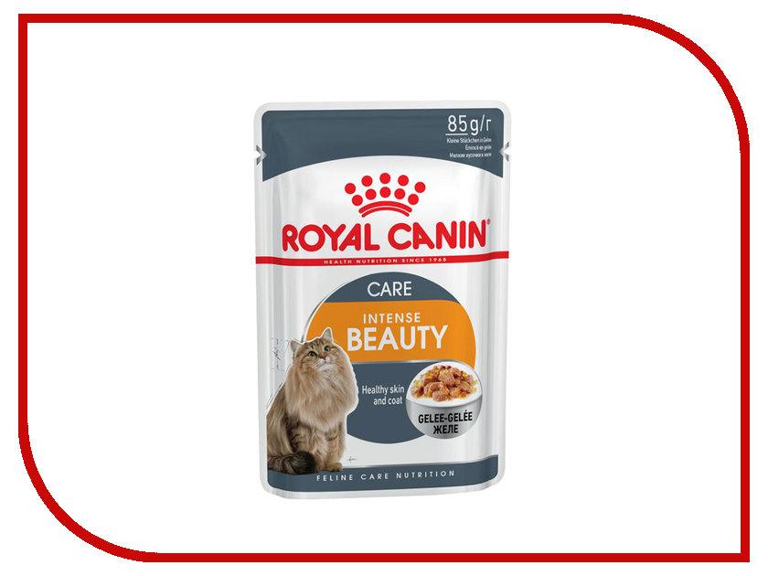 Корм ROYAL CANIN Intense Beauty Кусочки в желе 85g для кошек 785001 корм royal canin instinctive jelly кусочки в желе 85g для кошек 483001
