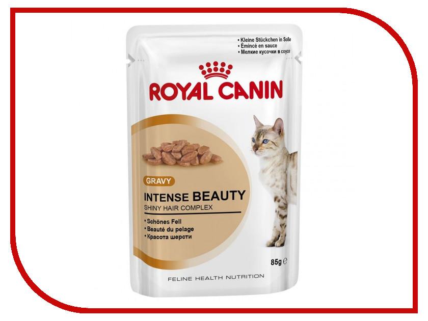 Корм ROYAL CANIN Intense Beauty Кусочки в желе 85g для кошек 485001 корм royal canin instinctive jelly кусочки в желе 85g для кошек 483001