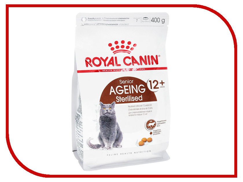 Корм ROYAL CANIN Ageing Sterilised 12+ 400g для стерилизованных кошек старше 12лет 533104 happy ageing