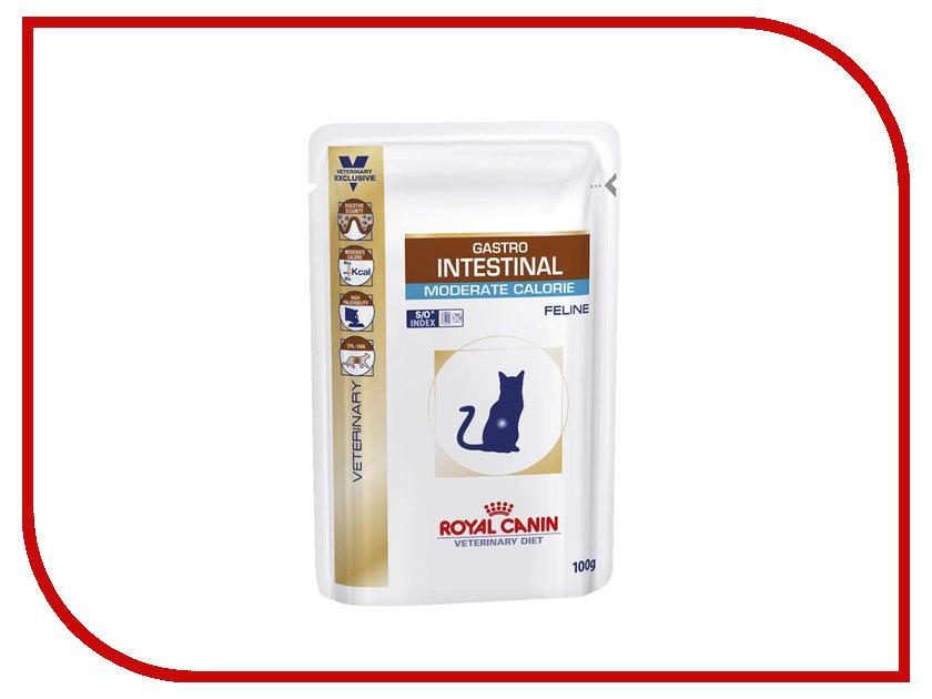 Корм ROYAL CANIN Gastro Intestinal Moderate Calorie 100g для кошек при панкреатите 767101/767001