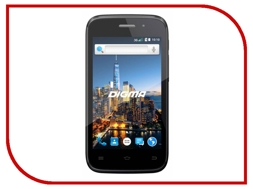 Сотовый телефон Digma CITI Z400 3G Black планшет digma plane 1601 3g ps1060mg black
