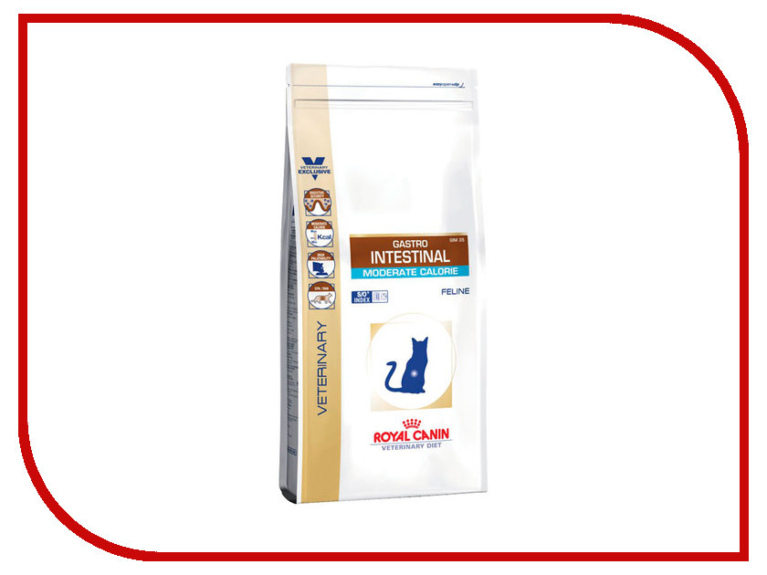 Корм ROYAL CANIN Gastro Intestinal Moderate Calorie GIM35 400g для кошек при панкреатите и нарушениях пищеварения 735004/735104 москва все для творчества