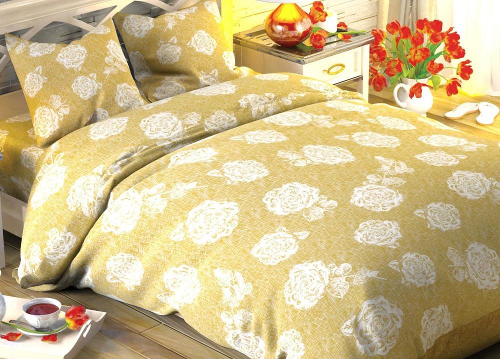 Постельное белье Этель Кремовая роза Комплект Дуэт Поплин 1504641 цена