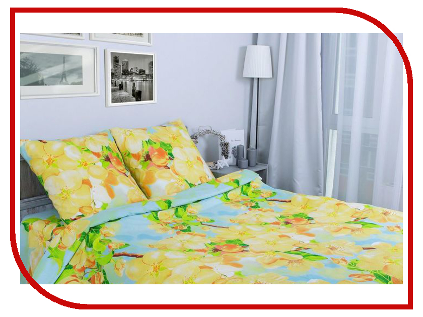 Постельное белье Этель Яблоневый цвет вид 2 Комплект 2 спальный Поплин 1154344