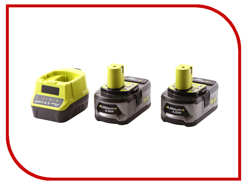 Комплект Ryobi RC18120-250 3003364 аккумулятор ryobi one rc18120 150 18 в 5 0 а ч li ion зарядное устройство rc18120