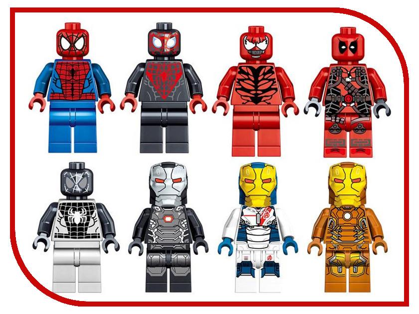 Конструктор Lele Spider-Man 2017 Герои 16шт (8 видов) 34009 конструктор lele star wars темная сторона 16шт 8 видов 35001