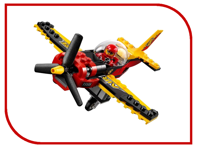 Конструктор Bela Город Гоночный самолёт 94 дет. 10643 ecoiffier игровой набор конструктор гоночный трек 94 элемента