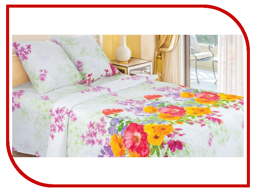 Постельное белье Этель Флора Комплект 2 спальный Поплин 1292979