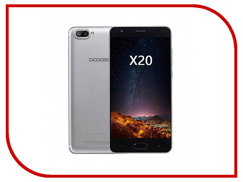 Сотовый телефон DOOGEE X20L 4G Silver unlocked netger 4g 150mbps sierra wireless router aircard 770s 4g lte mobile wifi hotspot dongle 4g pocket wifi