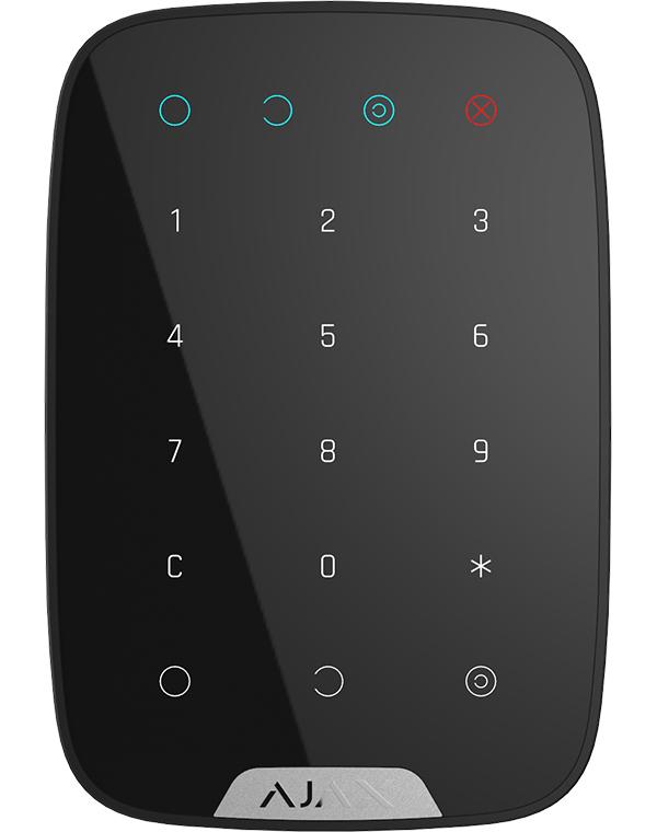 Беспроводная сенсорная клавиатура Ajax KeyPad Black 8722.12.BL1