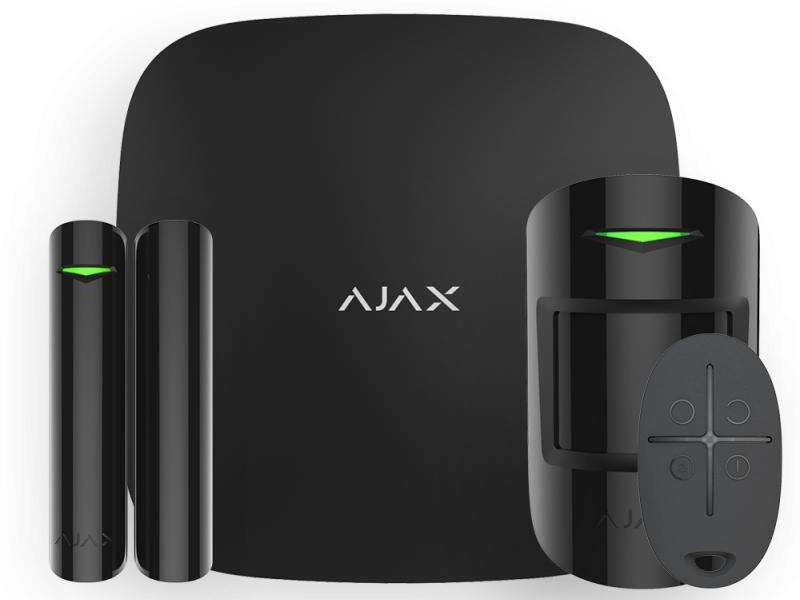 Охранная система Ajax StarterKit Black 10021.00.BL2 охранная gsm система ajax ajax ajax fireprotect plus white