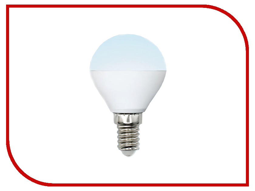 Лампочка Uniel LED-G45-6W/NW/E14/FR/MB PLM11WH лампочка uniel il f25 cl 15 e14 01854