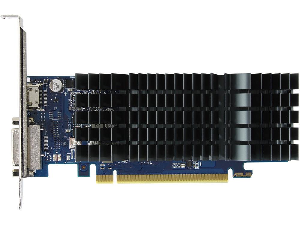 Видеокарта ASUS GeForce GT 1030 1228Mhz PCI-E 3.0 2048Mb 6008Mhz 64 bit DVI HDMI HDCP GT1030-SL-2G-BRK видеокарта 2048mb asus geforce gt710 pci e 64bit gddr3 dvi hdmi crt vga 710 2 sl retail