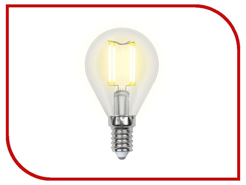 Лампочка Uniel LED-G45-6W/NW/E14/CL PLS02WH лампочка uniel il f25 cl 15 e14 01854