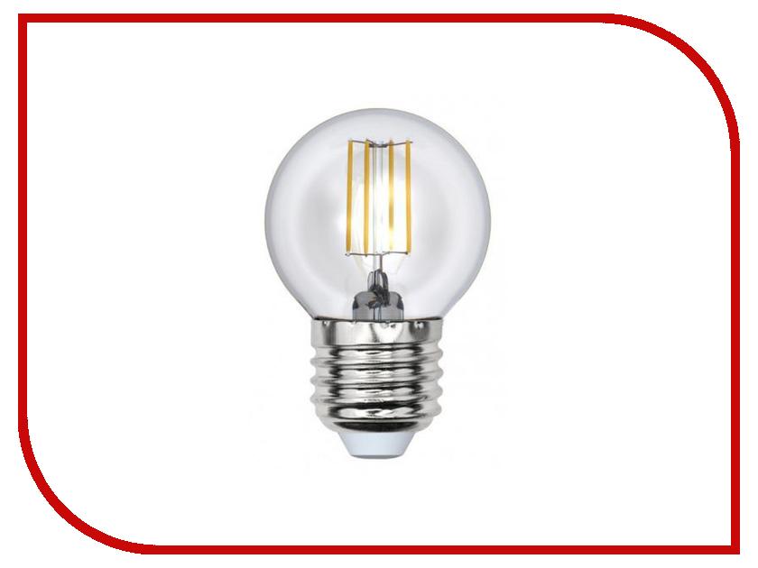 Лампочка Uniel LED-G45-6W/NW/E27/CL PLS02WH лампочка uniel il f25 cl 15 e14 01854
