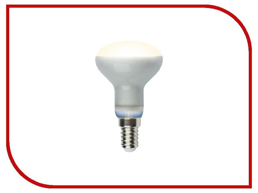 Лампочка Uniel LED-R50-6W/WW/E14/FR PLS02WH лампочка uniel il f25 cl 15 e14 01854