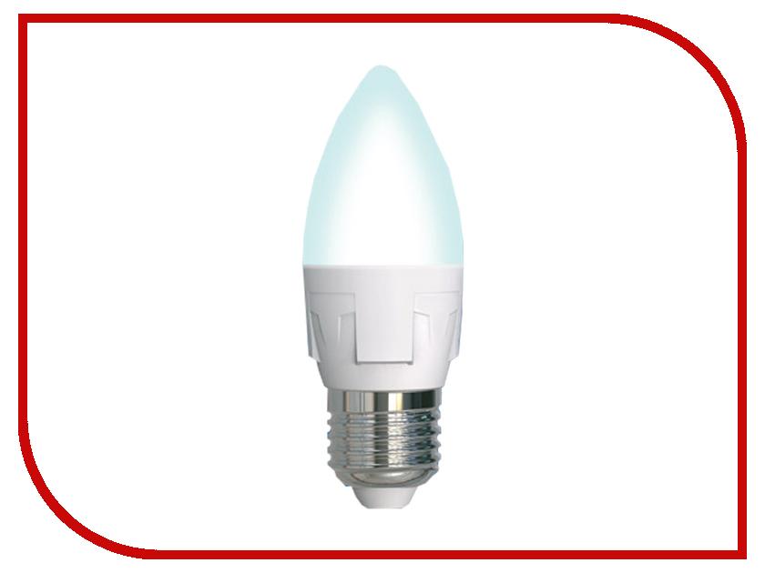 Лампочка Uniel LED-C37-7W/NW/E27/FR PLP01WH лампочка krez light 7w e27 4bm wh125 01