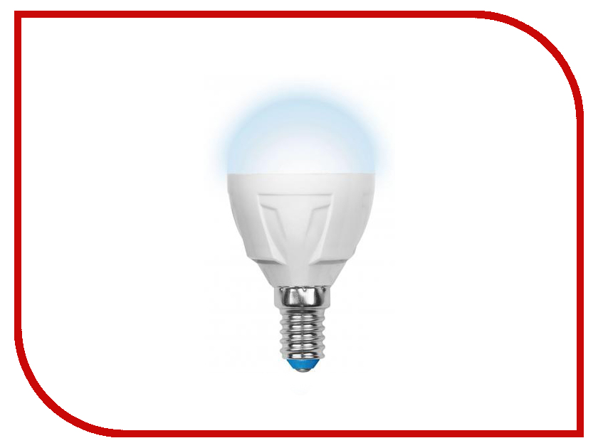 Лампочка Uniel LED-G45-7W/NW/E14/FR PLP01WH лампочка ecola globe led e14 7w g45 220v 4000k k4lv70elc