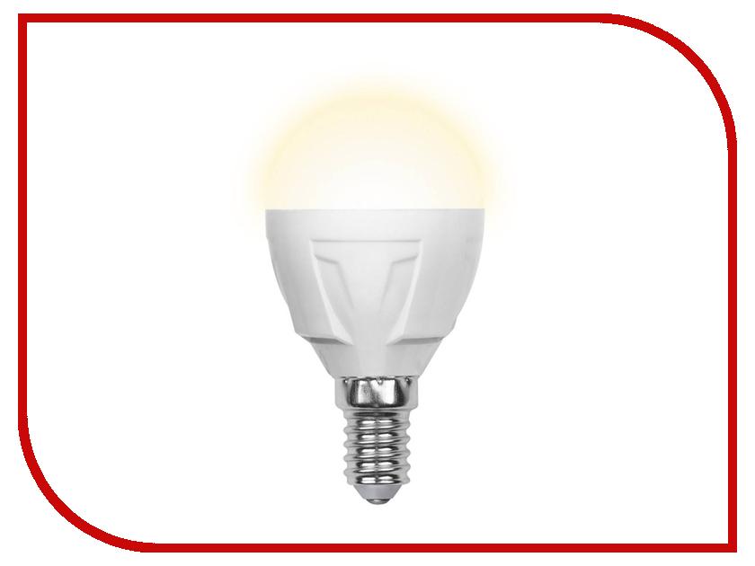 Лампочка Uniel LED-G45-7W/WW/E14/FR PLP01WH лампочка ecola globe led e14 7w g45 220v 4000k k4lv70elc