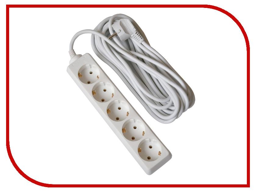 Удлинитель Uniel Стандарт 5 Sockets 5m S-GCD5-5 удлинитель uniel general 4 sockets 3m white s gcp4 3b