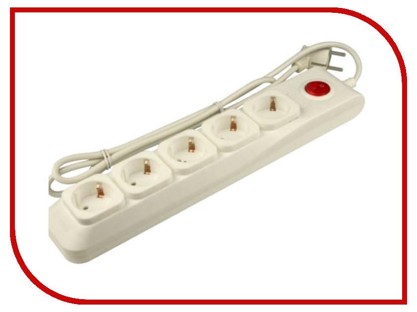 Сетевой фильтр Uniel Lux 5 Sockets 3m Ivory S-GSL5-3