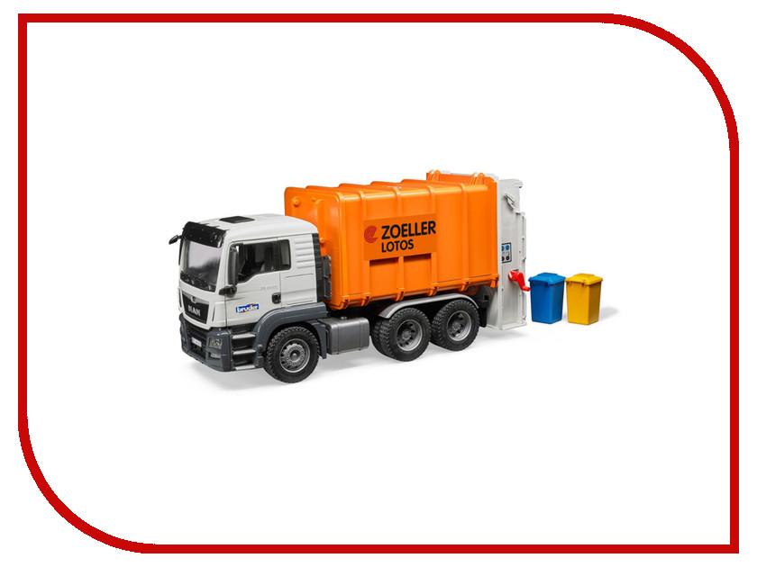 Игрушка Bruder Man TGS Мусоровоз Orange 03-762 bruder bruder автокран с модулем со световыми и звуковыми эффектами man tgs