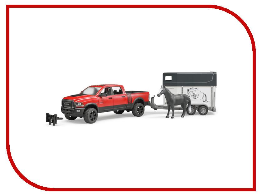Игрушка Bruder Ram 2500 Пикап c коневозкой и одной лошадью 02-501