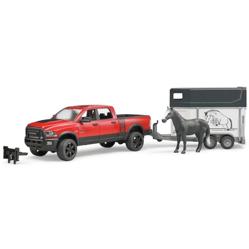 Игрушка Bruder Ram 2500 Пикап c коневозкой и одной лошадью 02-501 цена