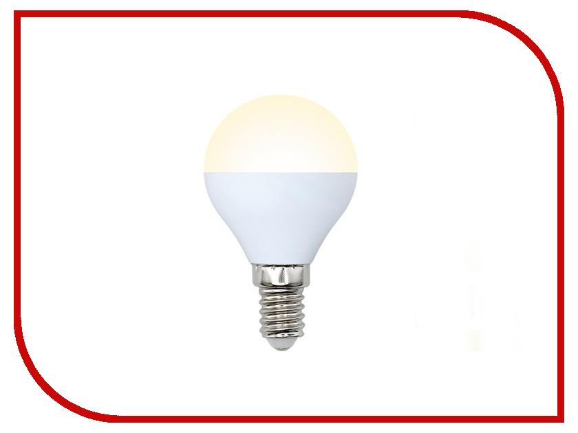 Лампочка Volpe Optima Шар LED-G45-8W/WW/E14/FR/O UL-00001779 лампочка volpe optima led jcdr 5w ww gu5 3 o 09942