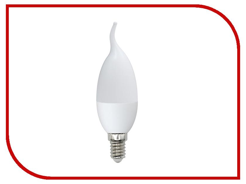 Лампочка Volpe Optima Свеча на ветру LED-CW37-6W/DW/E14/FR/O UL-00001773 uniel лампа светодиодная 08137 e14 6w 3000k свеча на ветру матовая led cw37 6w ww e14 fr alm01wh
