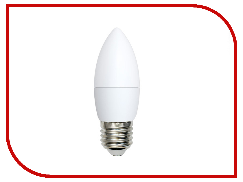 Лампочка Volpe Optima Свеча LED-C37-6W/WW/E27/FR/O UL-00001066