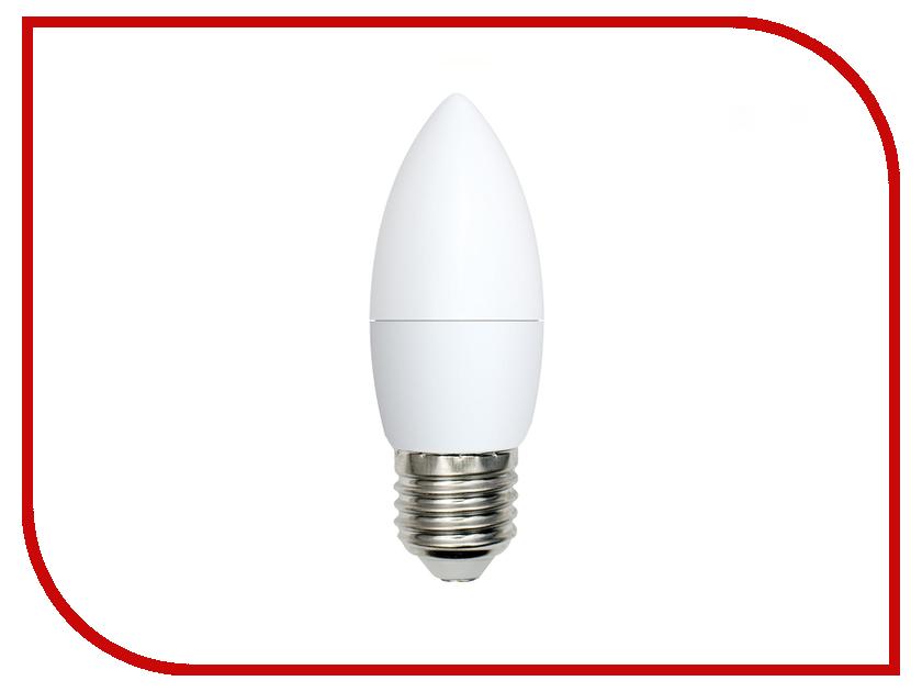 Лампочка Volpe Optima Свеча LED-C37-6W/NW/E27/FR/O UL-00001067 набор из 10 светодиодных лампочек e27 белый свет 11 вт volpe