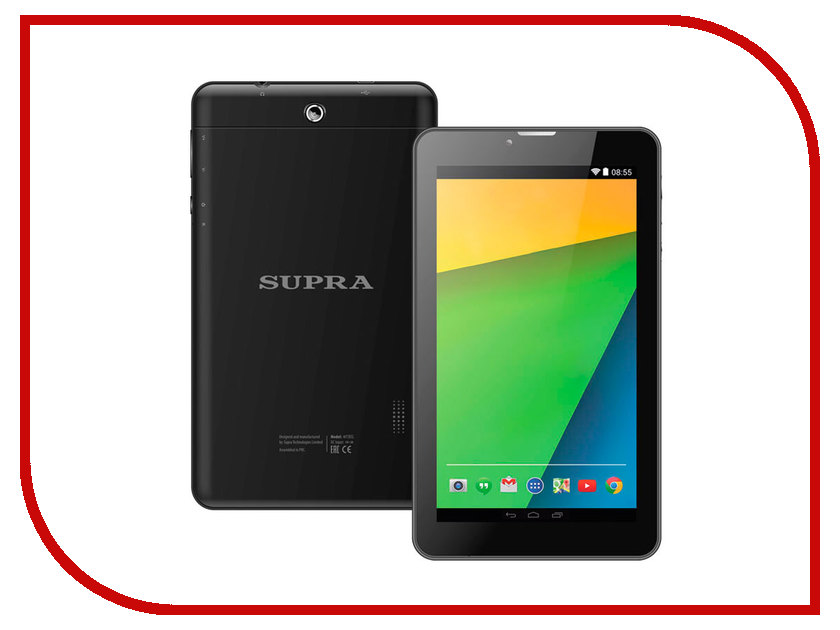 Планшет SUPRA M72EG (Spreadtrum SC7731 1.3 GHz/512Mb/16Gb/GPS/3G/Wi-Fi/Bluetooth/Cam/7.0/1024x600/Android) планшет turbopad 712 arm cortex a7 1 2 ghz 512mb 8gb wi fi cam 7 0 1024x600 android
