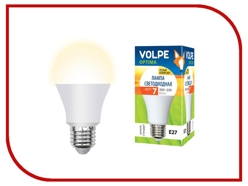 Лампочка Volpe Optima LED-A60-7W/WW/E27/FR/O UL-00001064 лампочка rev led a60 e27 7w 2700k premium filament теплый свет 32353 2