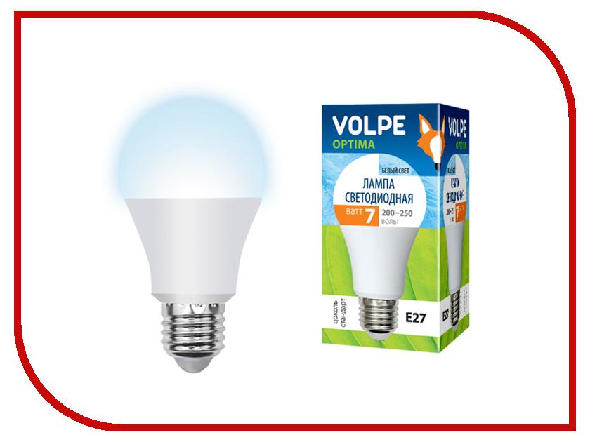 Лампочка Volpe Optima LED-A60-7W/DW/E27/FR/O UL-00001763 лампочка rev led a60 e27 7w 2700k premium filament теплый свет 32353 2