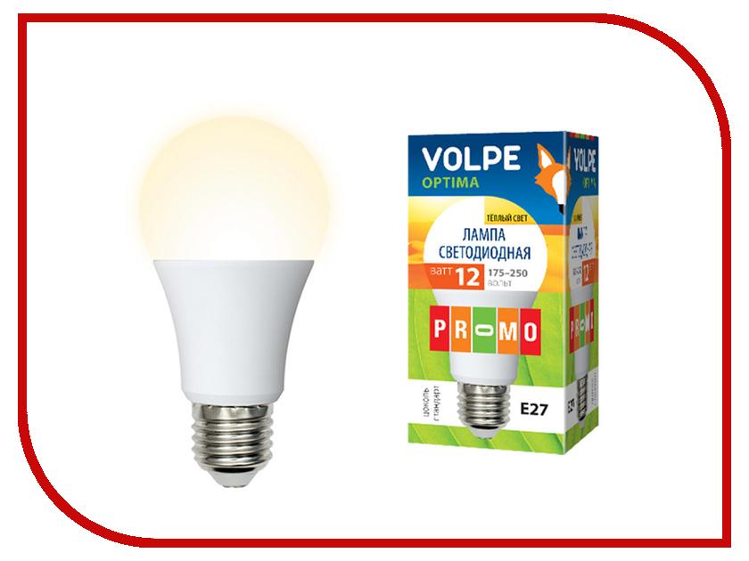 Лампочка Volpe Optima LED-A60-12W/WW/E27/FR/O 10766 лампочка dialog led a60 e27 12w 3000k