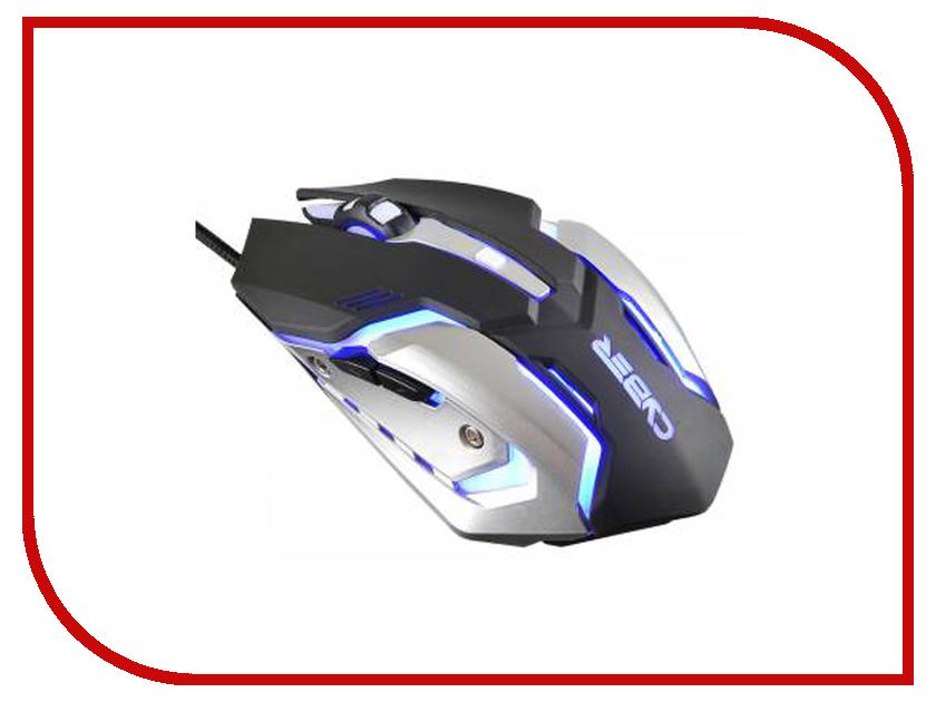 Мышь Oklick 855G Cyber Black Silver gaming mouse oklick 855g cyber